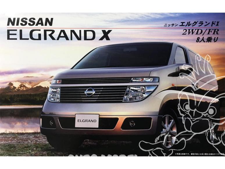 Fujimi maquette voiture 018749 Nissan Elgrand X 2WD/FR 1/24