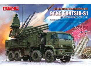 Meng maquette militaire SS-016 Système d'armes de défense aérienne russe 96K6 Pantsir-S1 1/35