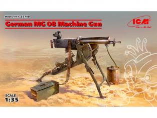 Icm maquette militaire 35710 Mitrailleuse allemande MG08 (100% nouveaux moules) 1/35
