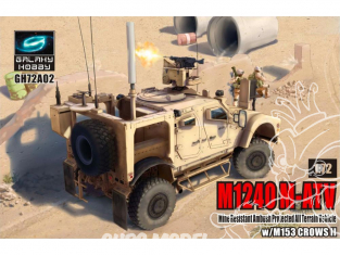 Galaxy Hobby maquette militaire GH72A02 M1240 M-ATV avec M153 CrowsII 1/72