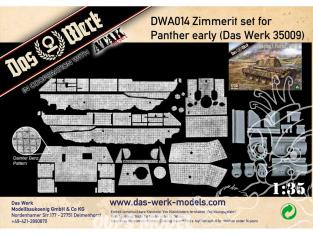 DAS WERK maquette militaire DWA014 Zimmerit Set pour Panther early modèle Das Werk 35009 1/35