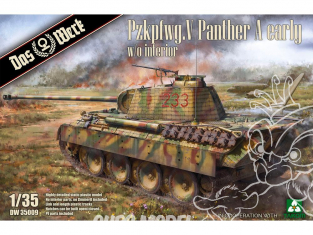DAS WERK maquette militaire DW35009 Pzkpfwg. V Panther Ausf.A Early 1/35