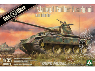 DAS WERK maquette militaire DW35010 Pzkpfwg. V Panther Ausf.A Early / Mid 1/35
