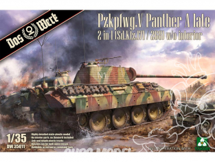 DAS WERK maquette militaire DW35011 Pzkpfwg. V Panther Ausf.A Late 1/35