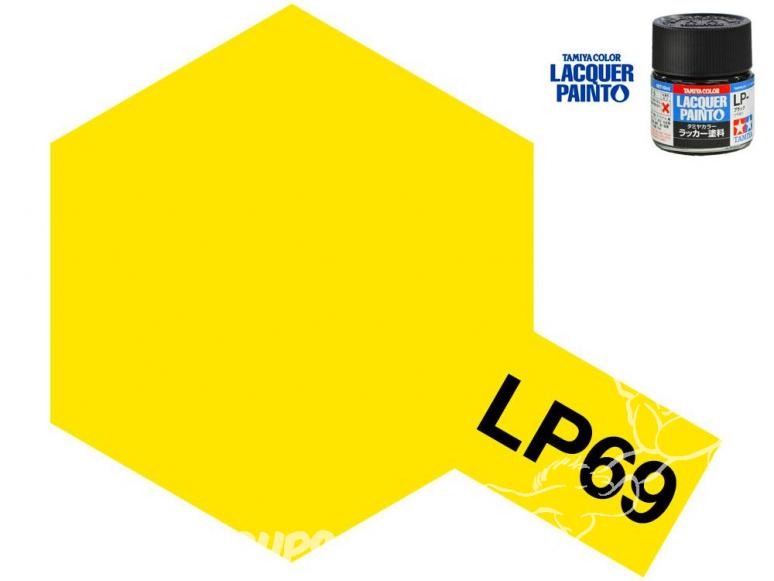 Peinture laque couleur Tamiya LP-69 Jaune Transparent 10ml