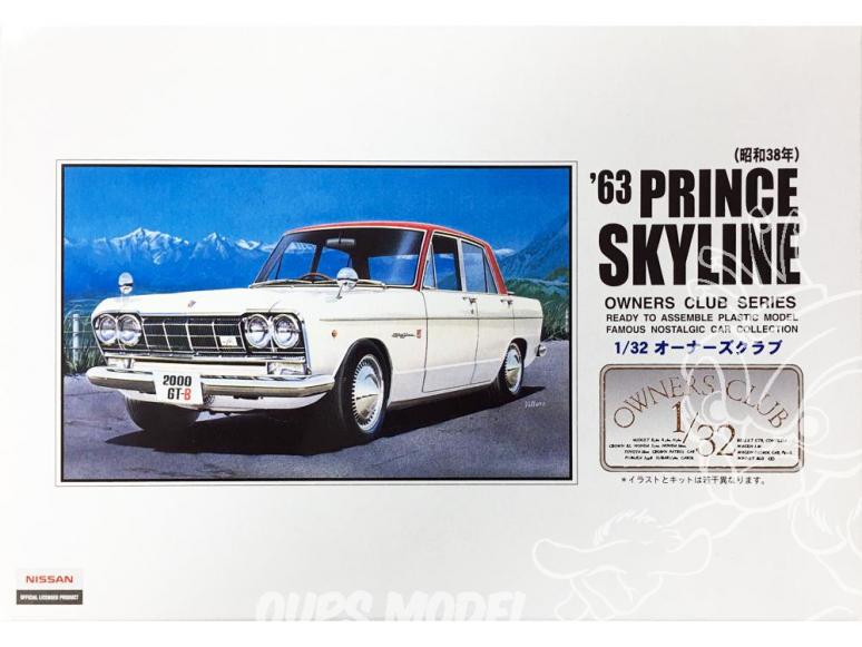 Arii maquette voiture 41021 Prince Skyline 1963 1/32