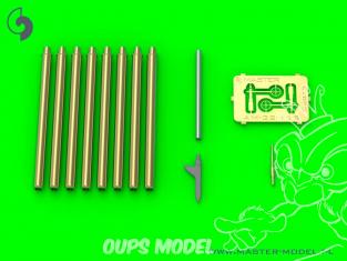 Master Model AM-32-115 P-47 Thunderbolt Ensemble de détails Blast Tubes .50 Browning et tube de Pitot 1/32