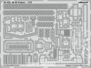 Eduard photodecoupe militaire 36426 Amélioration M-46 Patton Takom 1/35