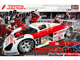 Hasegawa maquette voiture 20235 Denso Toyota 88C ('89 Le Mans) 1/24