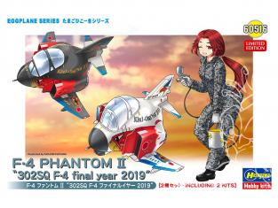 Hasegawa maquette avion 60516 Egg Girls Collection F-4 Phantom II 302SQ F-4 Année finale 2019 2 kits