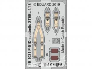 EDUARD photodecoupe avion FE1021 Harnais métal P-51D Eduard 1/48