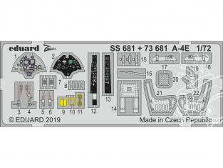 Eduard photodecoupe avion 73681 Amélioration A-4E Hobby Boss 1/72