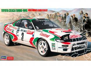 Hasegawa maquette voiture 20401 Toyota Celica Turbo 4RM «Rallye de Monte Carlo de 1993» 1/24