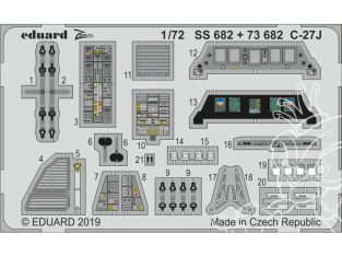 Eduard photodecoupe avion SS682 Zoom Amélioration C-27J Italeri 1/72