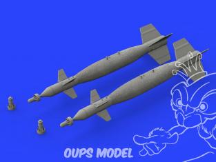 Eduard kit d'amelioration avion brassin 648480 PAVE Way I Mk.83 Slow Speed LGB Protégé thermiquement 1/48