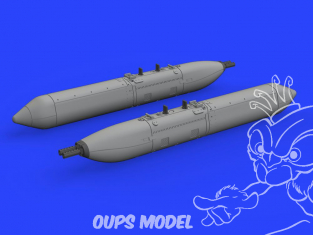 Eduard kit d'amelioration avion brassin 648497 UPK-23-250 Gun Pods 1/48