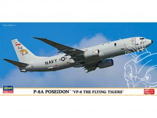 HASEGAWA maquette avion 10830 P-8A Poséidon VP-8 Les Tigres Volants 1/200