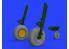 Eduard kit d'amelioration avion brassin 648484 Roues P-47D Tamiya 1/48