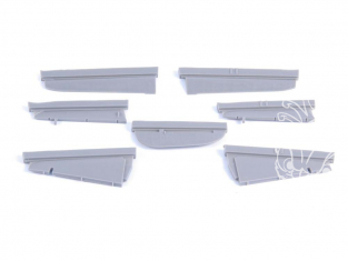 Cmk kit d'amelioration 4376 N1K2-J Shiden Kai (George) Control surface set pour kit Hasegawa 1/48