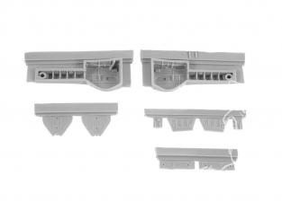 Cmk kit d'amelioration 4377 N1K2-J Shiden Kai (George) TRAIN D'ATTERRISSAGE set pour kit Hasegawa 1/48
