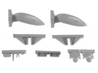 Cmk kit d'amelioration 4383 BLENHEIM Mk.I/II FA FINLANDAISES TRAIN D'ATTERRISSAGE SUR SKIS/ TYPES FIXES pour kit Airfix 1/48