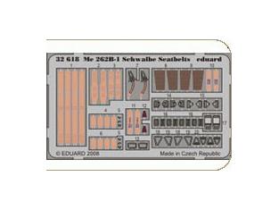 EDUARD photodecoupe 32618 Me 262B-1 Schwalbe seatbelts 1/32