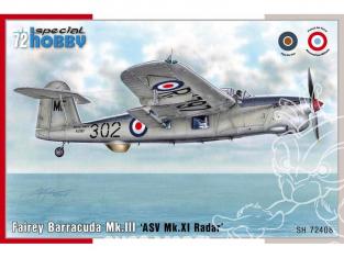 Special Hobby maquette avion 72408 Fairey Barracuda Mk. III ASV Mk. XI Radar 1 deco française 1/72