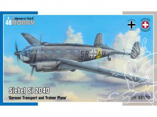 Special Hobby maquette avion 48170 Siebel Si 204D avion de transport et d'entraînement allemand 1/48
