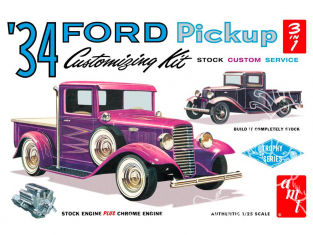 AMT maquette voiture 1120 1934 Ford Pickup (3 'n 1) Customizing Kit 1/25