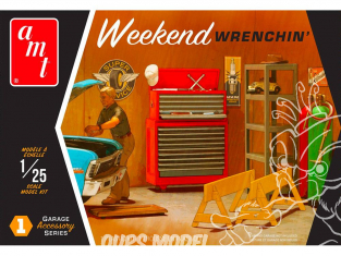 AMT maquette voiture PP015 Weekend Wrenchin Garage Set d'accessoires set 1 1/25