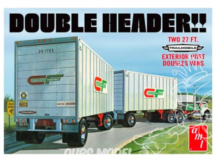 AMT maquette camion 1132 Remorques Tandem Double Tête Trailmobile 1/25