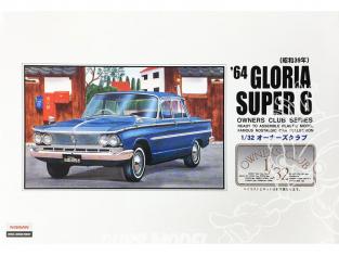 Arii maquette voiture 51004 Prince Gloria Super 6 1964 1/32