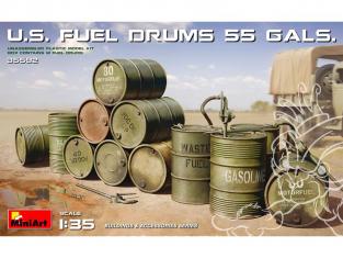 Mini Art maquette militaire 35592 Futs de carburant AMÉRICAIN 55 GALLONS. 1/35