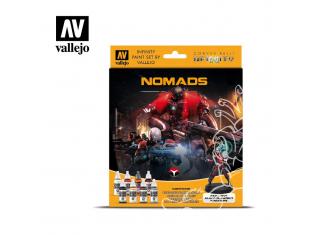 Vallejo Set Infinity 70233 Nomads 8 pots de peintures 17ml