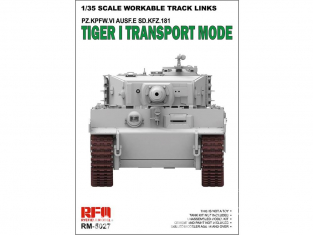 Rye Field Model maquette militaire 5027 Chenilles Tigre I Mode Transport (Chenilles maillon par maillon) 1/35
