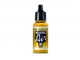 Vallejo Peinture Acrylique Model Air 71420 n°17 jaune terre 17ml