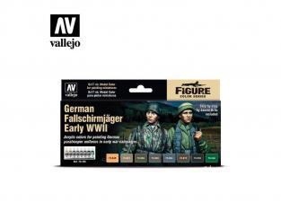 Vallejo Set Model Color 70185 Uniformes Allemands Fallschirmjager Early WWII 8 x 17ml