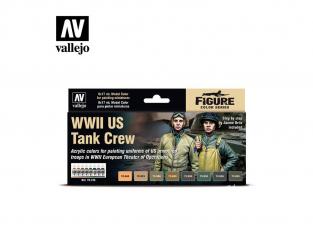 Vallejo Set Model Color 70186 Uniformes U.S. Équipage de chars WWII 8 x 17ml