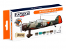 Hataka Hobby peinture laque Orange Line CS107 Set WW2 Dutch AF paint set vol. 1 6 x 17ml