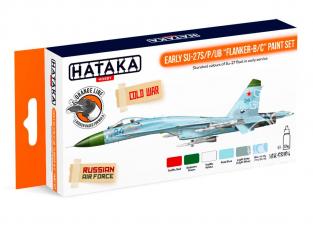 Hataka Hobby peinture laque Orange Line CS104 Set Early Su-27S/P/UB Flanker-B/C 6 x 17ml