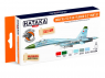 Hataka Hobby peinture laque Orange Line CS104 Set Early Su-27S/P/UB Flanker-B/C 6 x 17ml