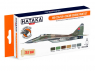 Hataka Hobby peinture laque Orange Line CS105 Set MiG-29A/UB 4-colour scheme paint 6 x 17ml
