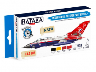 Hataka Hobby peinture acrylique Blue Line BS85 Set de peinture Modern Royal Air Force paint set vol. 4 6 x 17ml