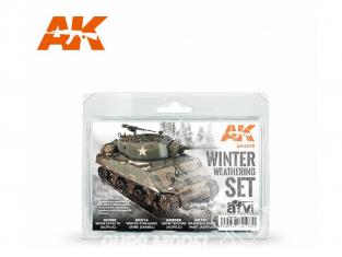 Ak Interactive Set Weathering AK4270 Set vieillissement Hiver 3 x 35ml + 1 x 17ml