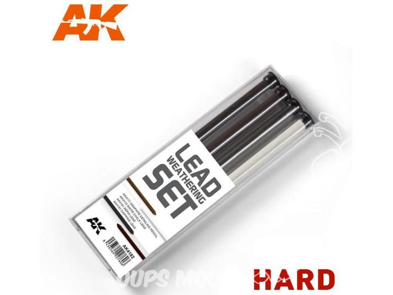 Ak interactive AK4188 Set de Crayons de détail Durs - Hard