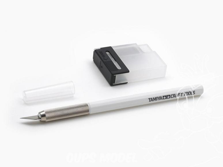 TAMIYA 69930 Couteau de Modélisme blanc avec recharges