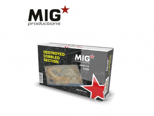 MIG Productions by AK MP35-410 Section pavée détruite 1/35