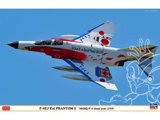 Hasegawa maquette avion 07475 F-4EJ Kai Super Phantom 302SQ F-4 Année finale 2019 1/48