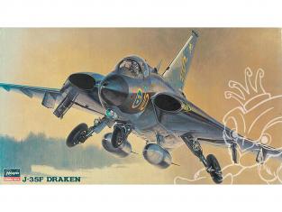 HASEGAWA maquette avion 51401 J-35F Draken 1/72