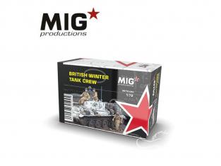 MIG Productions by AK MP72-093 Equipage de chars Britanniques Hiver 1/72